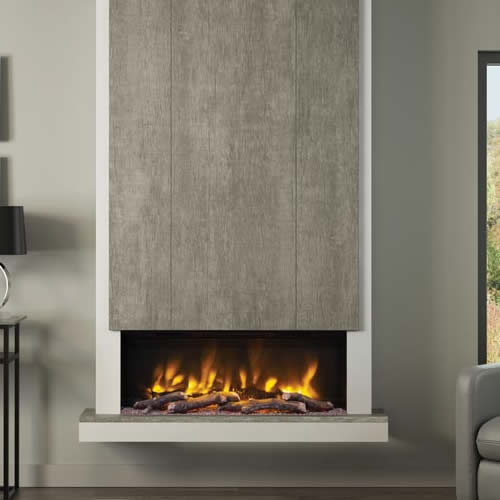 celsi wall mounted electric fires in the style of evonic fires