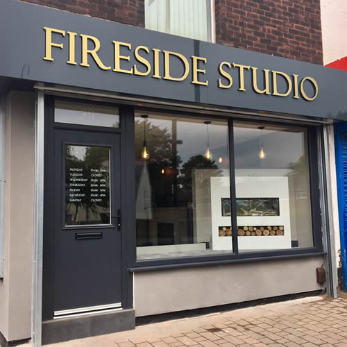 picture of Fireside Studio showroom in Salford from outside
